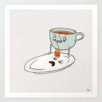 tea Art Prints featuring Tea Baggin' by Phil Jones