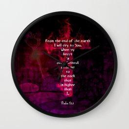 Psalm 61:2 Bible Verse Inspirational & Beautiful Christian Art Wall Clock