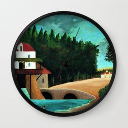 Le Moulin, Paris, France by Henri Rousseau Wall Clock