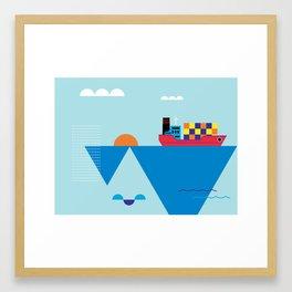 Blue Cosmopolitan Framed Art Print