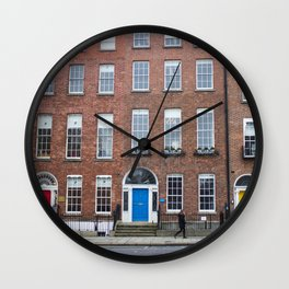 Colorful Doors in Dublin, Ireland Wall Clock