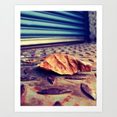Loading dock leaf Art Print