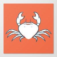 crab Canvas Prints featuring Crab by Josè Sala