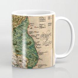 Map Of Wales 1574 Coffee Mug