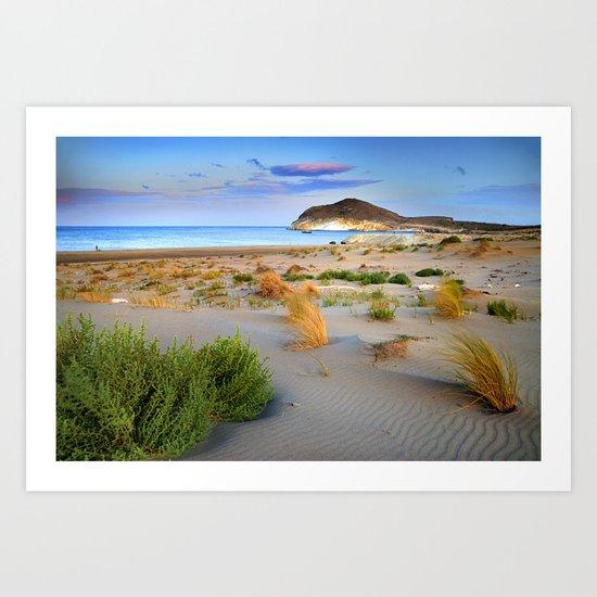"""Genoveses Beach"" Sunset at beach Art Print"