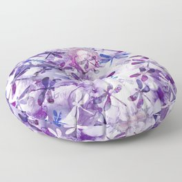 Dragonfly Lullaby in Pantone Ultraviolet Purple Floor Pillow