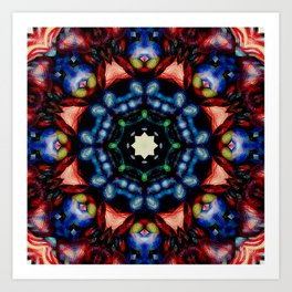 Mandala - The Colors of Your Heart Blend Art Print