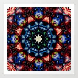 Mandala - The Colors of Your Heart Blend Art Print