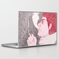 cigarette Laptop & iPad Skins featuring winter cigarette by laura k. white
