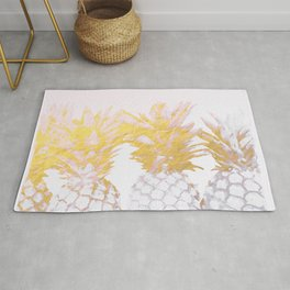 Golden pineapples Rug