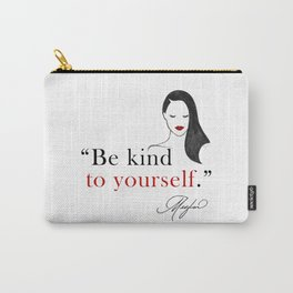 Duchess Meghan Markle Silhouette Watercolor Quotes Carry-All Pouch