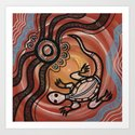 Aboriginal Art - Lizard by hogartharts