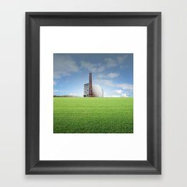 atmosphere 68 · Egg Factory Framed Art Print