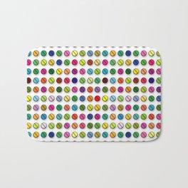 Multi-coloured Pills Pattern square Bath Mat