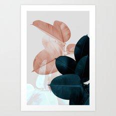 Plant Leaves, Tropical Leaves, Botanical Art Print