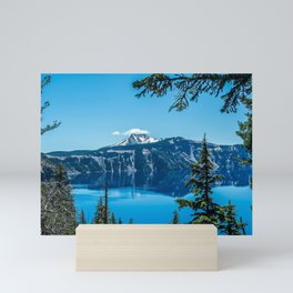Crater Lake Views // National Park Landscape Photography Clear Deep Blue Waters Mini Art Print