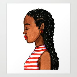 CORNROWS Art Print