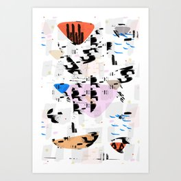 Between the coast and the ocean Art Print