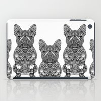 frenchie iPad Cases featuring Mandala Frenchie by Huebucket
