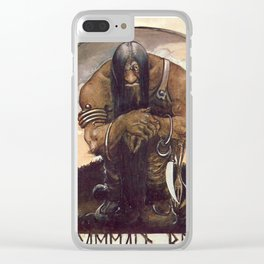 """Old Mountain Troll"" John Bauer Watercolor Clear iPhone Case"