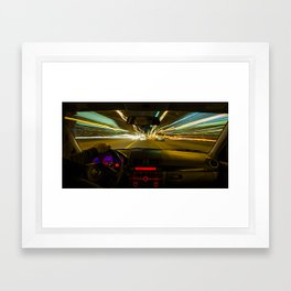 Almost 10p.m. Framed Art Print