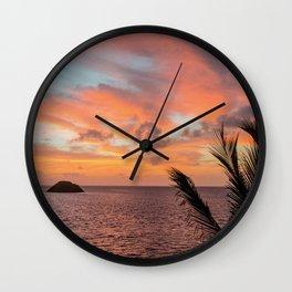 ISLAND SUNRISE Wall Clock