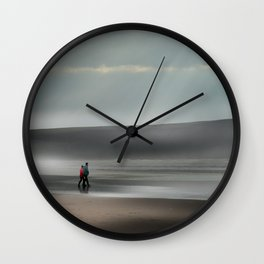 Misty walk Wall Clock