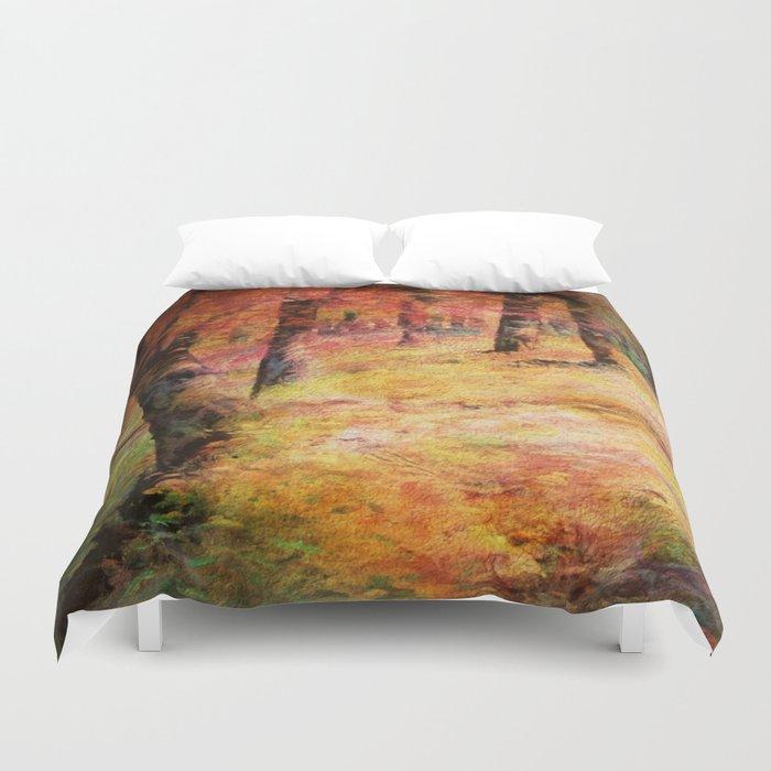 Painterly Vintage Woodland Dreams Duvet Cover