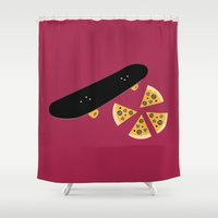 teenage mutant ninja turtles Shower Curtains featuring Teenage Mutant Ninja Turtles by FilmsQuiz