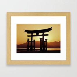 Miyajima Torii Gate Framed Art Print