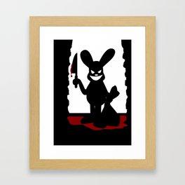 Bloody Bunny Framed Art Print