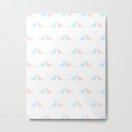 Little birds in love Metal Print