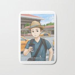 Backpack Sir Sir at Taipei Main Station Bath Mat