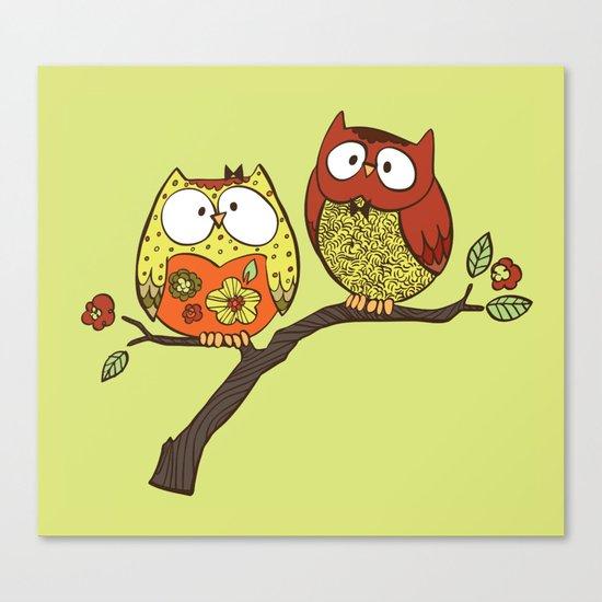 Decorative Owls Canvas Print