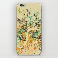 london map iPhone & iPod Skins featuring LONDON MAP by Nicksman