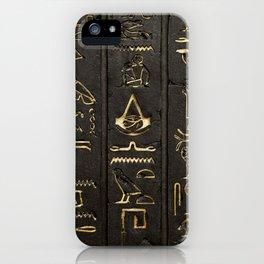 EGYPTIAN--HIERO iPhone Case