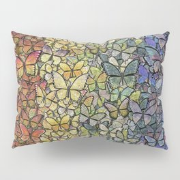 rainbow of butterflies aflutter Pillow Sham