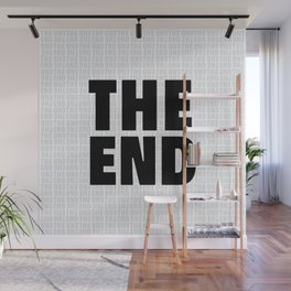 The End Black Wall Mural
