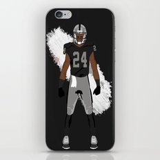 Silver and Black - Charles Woodson iPhone & iPod Skin