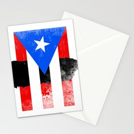 Puerto Rico + Flag Stationery Cards