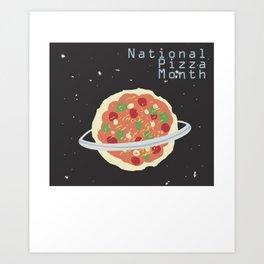 pizzamonth Art Print