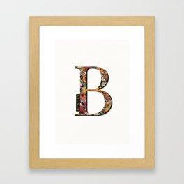 Floral monogram B - BEAUTY, Lo Lah Studio Framed Art Print