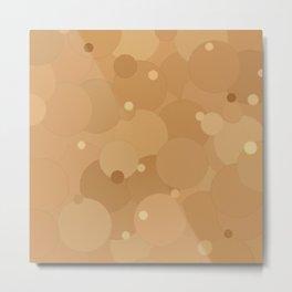 Desert Mist Bubble Dot Color Accent Metal Print