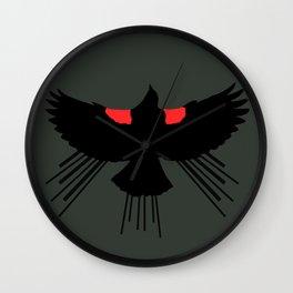 Seasons K Designs Red Winged Blackbird for Salty Raven Wall Clock