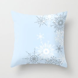 snowflake LOVE Throw Pillow
