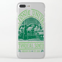 Miskatonic Historical Society Clear iPhone Case