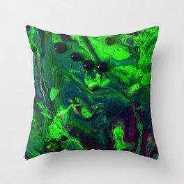 Green Plasma Throw Pillow