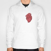 anatomical heart Hoodies featuring Anatomical Love by Orange Blood Gallery