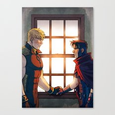 William and Theodore 32 Canvas Print