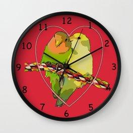 Cupidon's birds Wall Clock